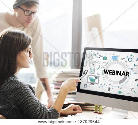 Webinar Seminar Online Conference Concept