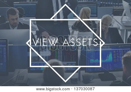 View Assets Accounting Property Value Concept