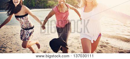 Friend Friendship Girl Women Vacation Travel Concept