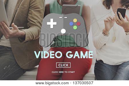Video Game Joystick Hobbies Concept