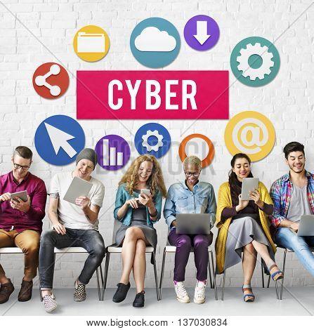 Cyber Online Technology Internet Concept