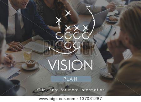Vision Ideas Inspiration Direction Dreams Goals Concept