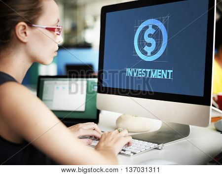 Investment Financial Money Business Technology Graphic Concept