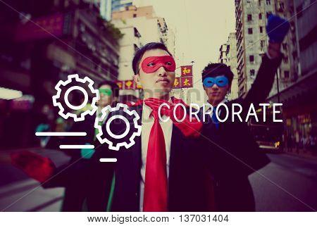 Corporate Business Company Organization Management Concept