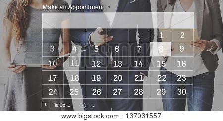 Agenda Calendar Appointment Planner Schedule Concept