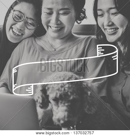 Female Family Pet Dog Banner Graphic Concept