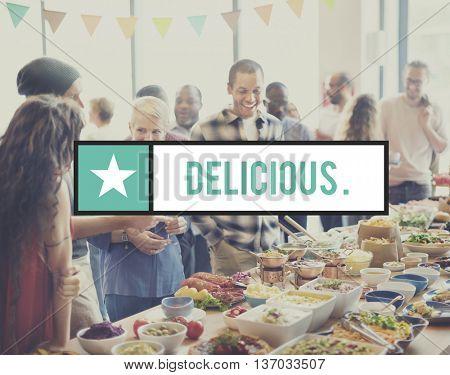 Delicious Enjoy Food Beverage Gourmet Healthy Concept