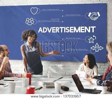 Advertisement Business People Marketing Concept