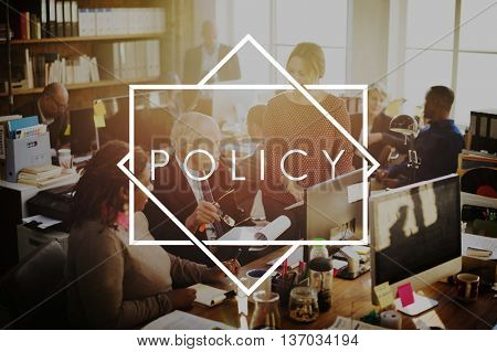 Policy Course Procedure Rules Plan Concept