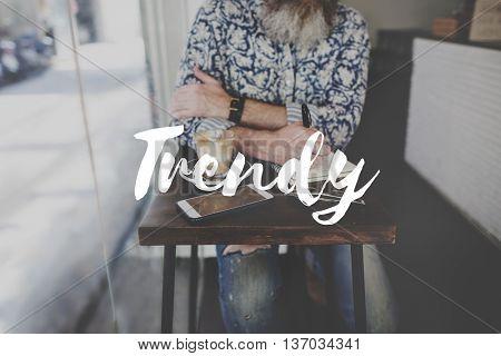 Trendy Hip Cool Culture Graphic Concept