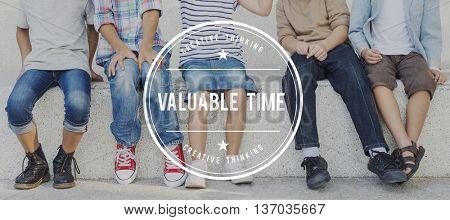 Valuable Time Management Wealth Deadline Concept
