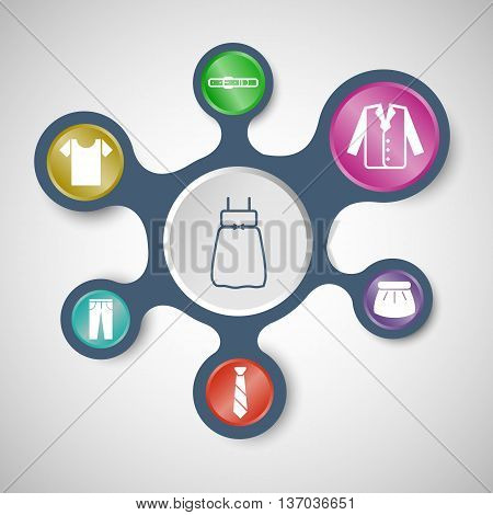Dressing infographic templates with connected metaballs, stock vector
