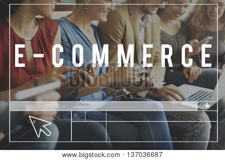 Commerce Online Shopping Browse Network Concept