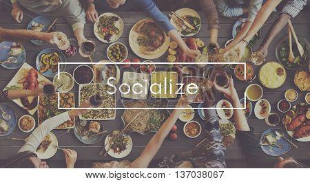 Bonding Socialize Festive Togetherness Party Concept