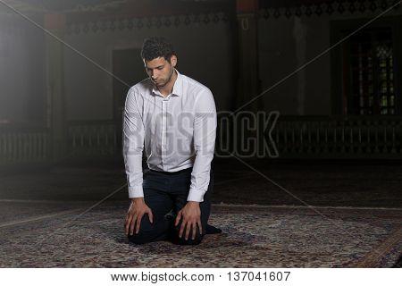 Humble Muslim Prayer
