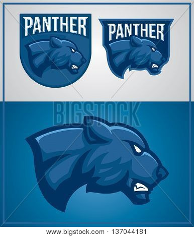 panther mascot for logo sport team or company