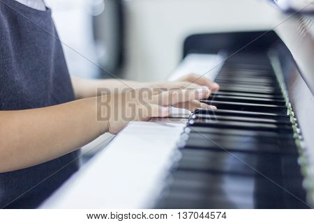 Children Is Playing Piano