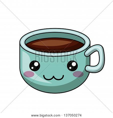 cup coffee character isolated icon design, vector illustration  graphic