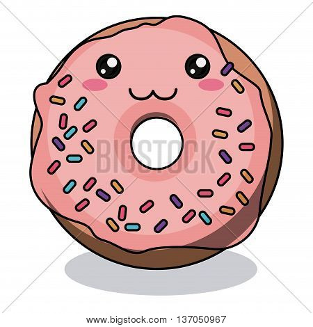 donut character isolated icon design, vector illustration  graphic