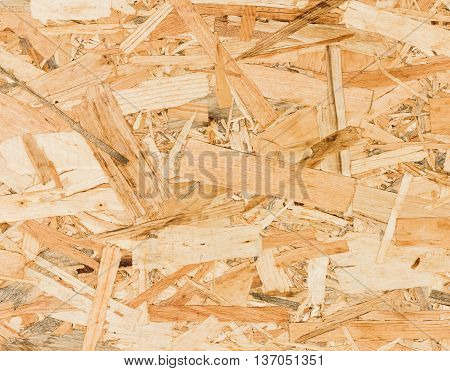 Close Up Texture Of Oriented Strand Board (osb)
