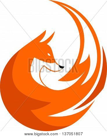 logo animal fox for software multi media