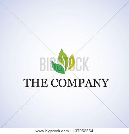 leaf logo ideas design vector on background