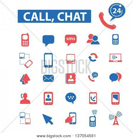 call chat, messenger,connect, communication, telephone, cellphone, gadget, organizer, social media, internet, mobile, talking, smartphone, tablet, device, mail, computer icons, signs vector