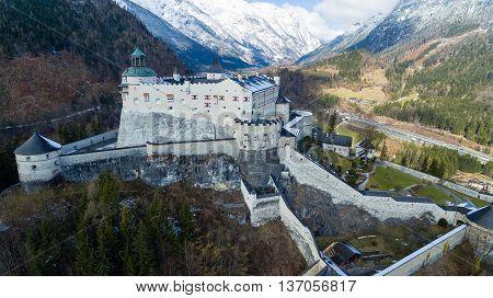 Alpine castle Werfen (Hohenwerfen) near Salzburg Austrian Alps Austria