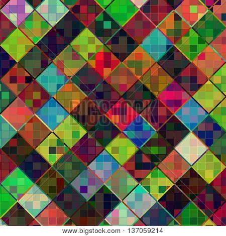 Vector square multicolor mosaic background. EPS 10