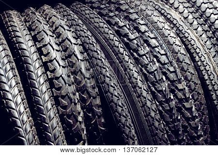 Black Bicycle Tires For Outdoor, Off-road Or Summer Mountain Bikes
