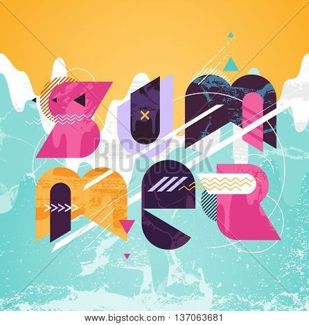 Summer colorful typographic poster
