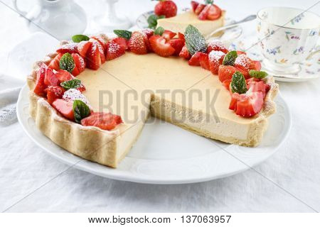 Cheese Cake with Stawberries