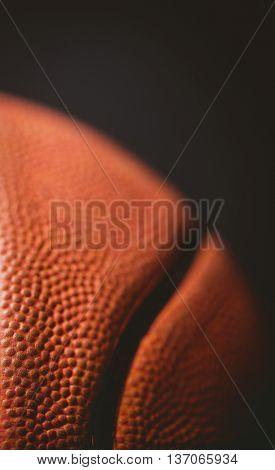 Close up of basketball