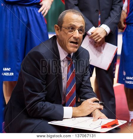 Bc Cska Head Coach Ettore Messina During A Timeout