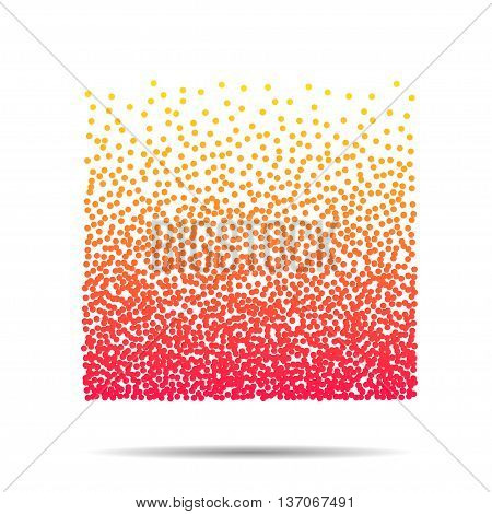Vector dots pattern. Modern stylish texture. Repeating geometric tiles with dotted square EPS