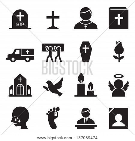 Funeral Burial icon Vector illustration Graphic design