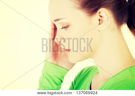 Young beautiful woman in depression