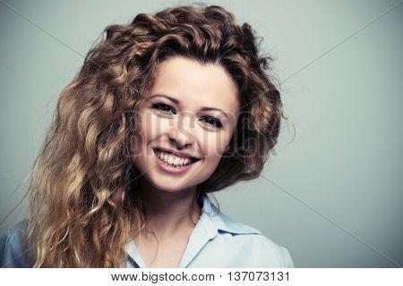 Smiling happy woman portrait