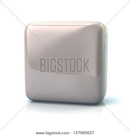 Blank White Square Button