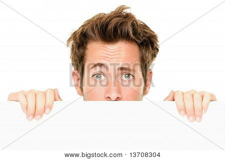 Man Showing Sign Surprised