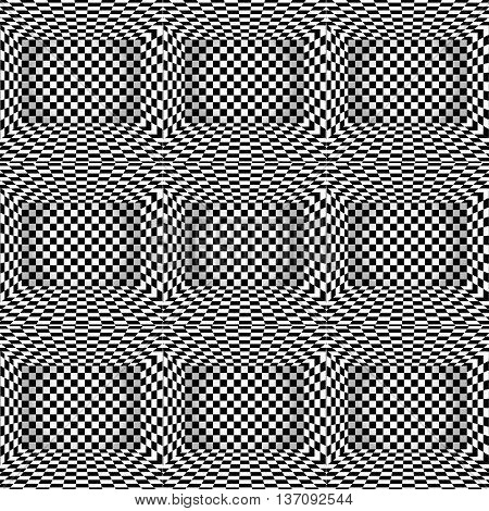 Black And White Chessboard Walls Many  Rooms  Background Vector Eps 10