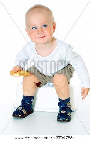adorable cute children looking at camera and smiling white background