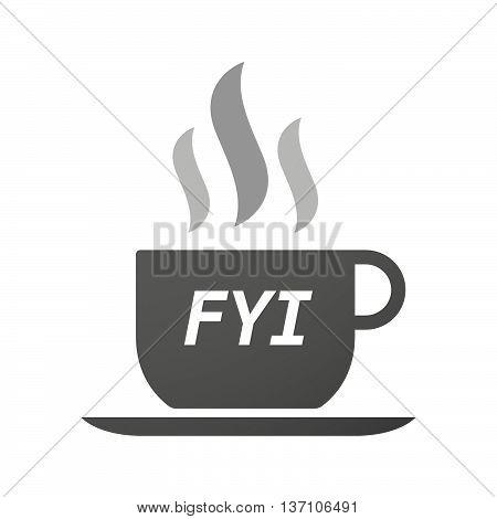 Coffee Mug Icon With    The Text Fyi