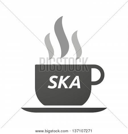 Coffee Mug Icon With    The Text Ska