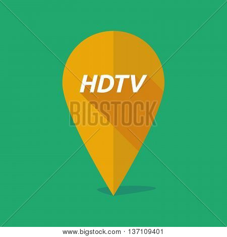 Long Shadow Map Mark Icon With    The Text Hdtv