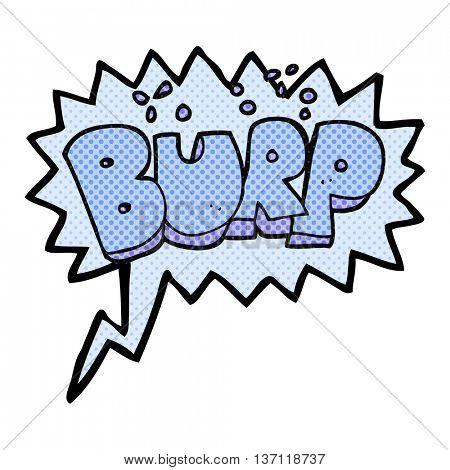 freehand drawn comic book speech bubble cartoon burp text