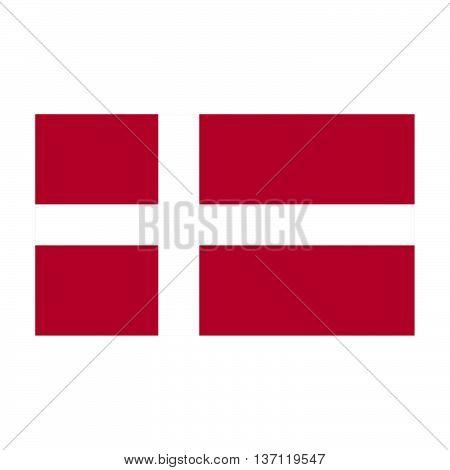 Denmark flag on a gray background. Vector illustration