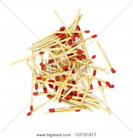 Match Isolated On White Background