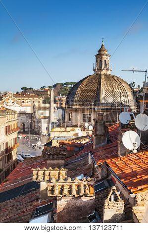 Old Rome, Italy. Via Del Corso, Vertical Photo