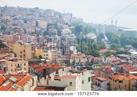 Istanbul, Turkey. Cityscape, Bosporus Coast
